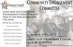 Community Engagement Committee  @ East Side Enterprise Center  | Saint Paul | Minnesota | United States