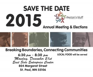 Annual Meeting and Community Dinner @ East Side Enterprise Center  | Saint Paul | Minnesota | United States