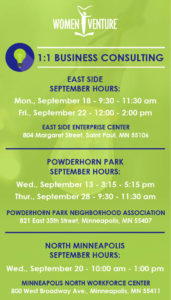 1:1 Business Consulting with Women Venture @ East Side Enterprise Center | Saint Paul | Minnesota | United States