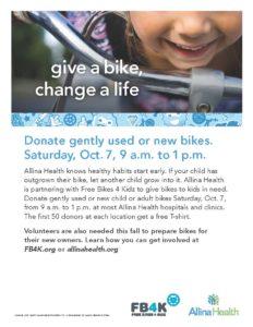Allina Health – Free Bikes 4 Kidz @ Allina Hospitals and Clinics