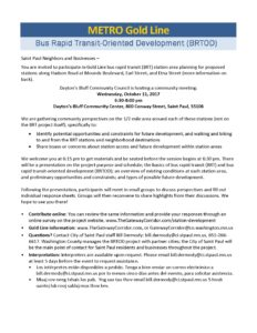 Metro Gold Line Bus Rapid Transit-Oriented Development (BRTOD) @ Dayton's Bluff Community Center   Saint Paul   Minnesota   United States